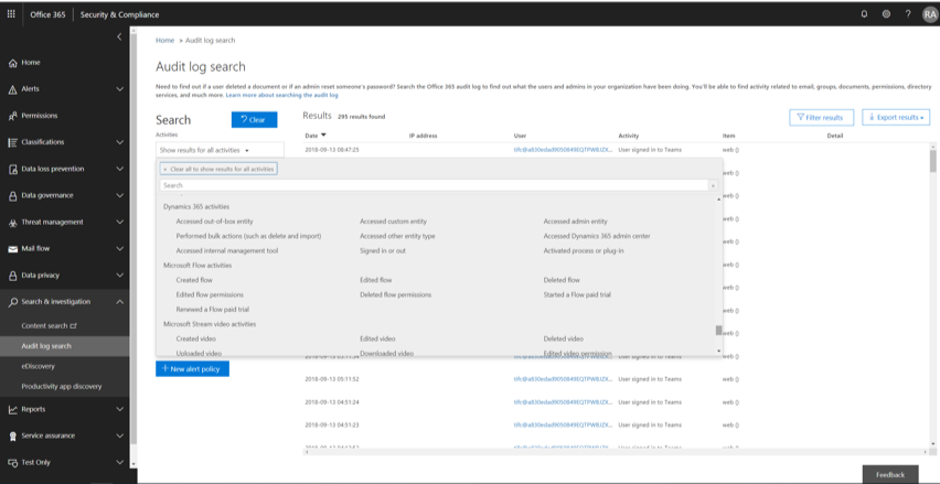 Alerting Services in Office 365 GCC High