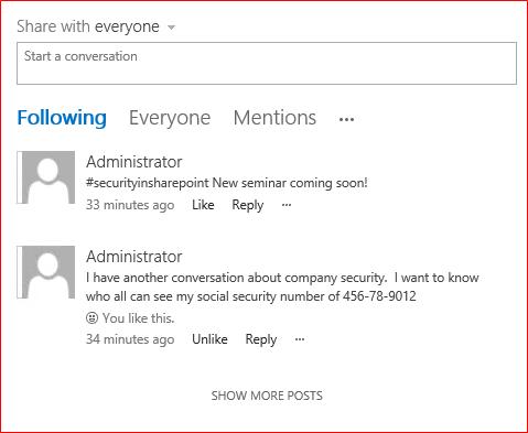 Configuring SharePoint 2016 Sensitive Information