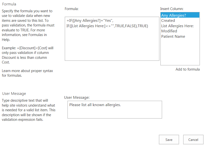 How to Conditionally Require Data in SharePoint Columns