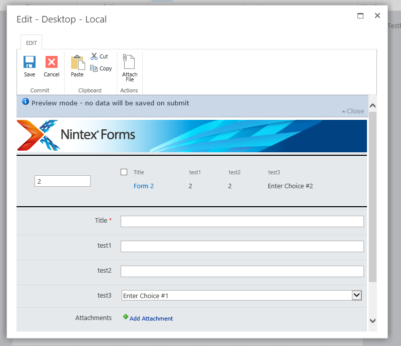 Show/Filter list items in Nintex Forms