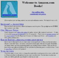 Amazon.com first gateway page