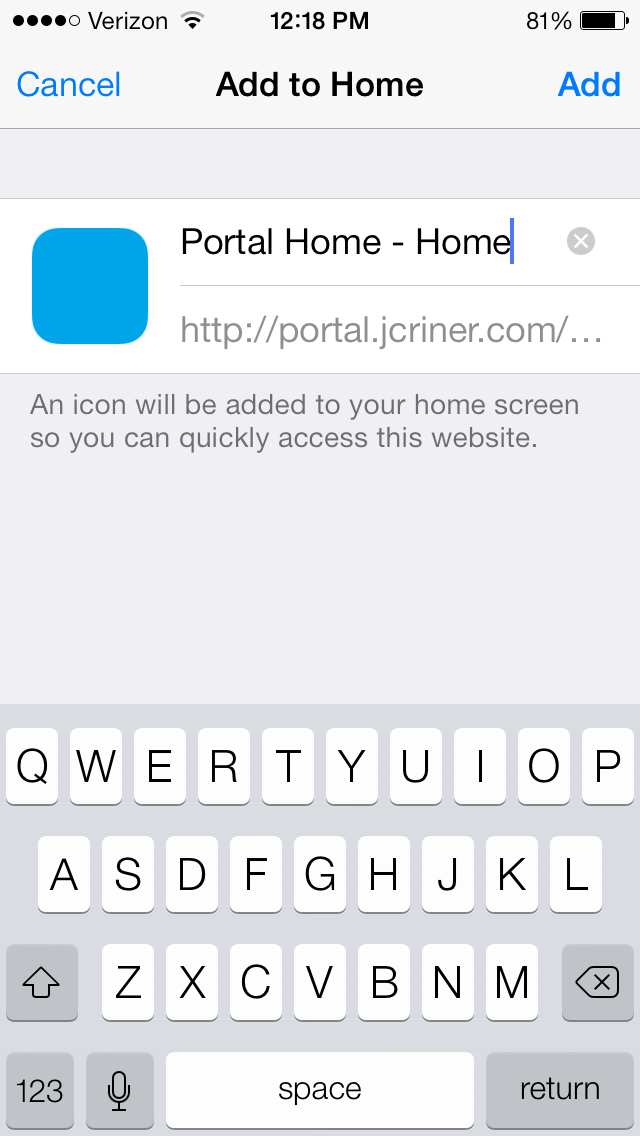 Create a Custom Mobile Icon for iPhone and iPad SharePoint Site Launcher