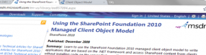 SharePoint Client Object Model