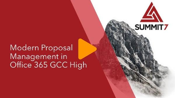 Proposal Management Webinar