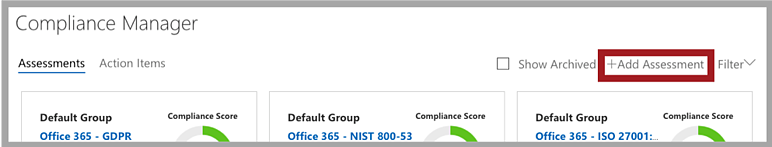 Add an Assessment to Compliance Manager