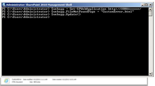 SharePoint Error Messages