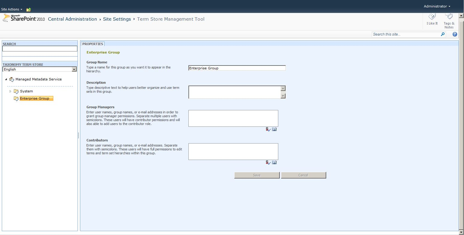 MMS 101: (Part A) How to use the term store in SharePoint 2010